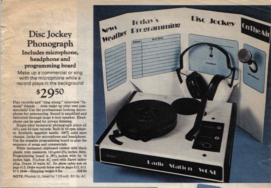 A lost radio, A record player, and a contest